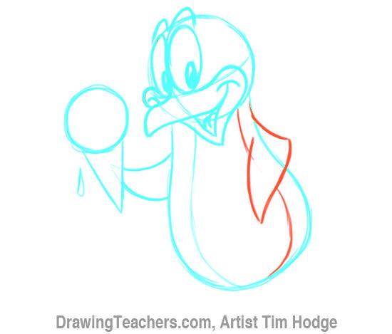 How to Draw a Cartoon penguin 11