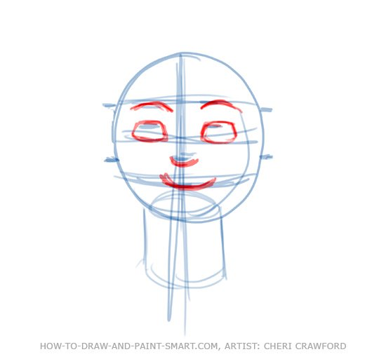 Draw a Human Face Drawing 5