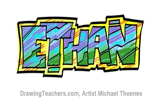 drawing graffiti letters