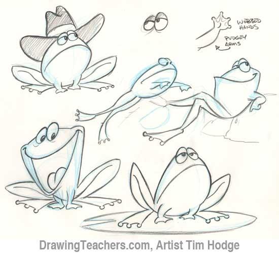 Line Drawing Frog : Frog