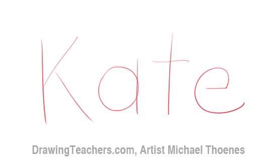 How to draw 3d letters kate how to draw 3d letters kate expocarfo Images