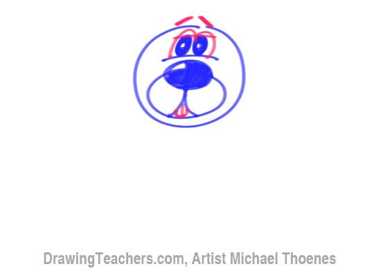 How to Draw a Cartoon Dog Step 5