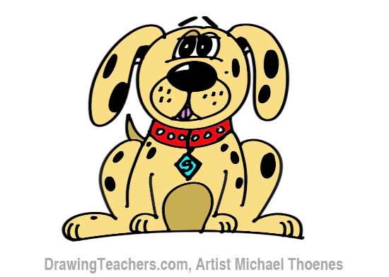 How to Draw a Cartoon Dog Step 6