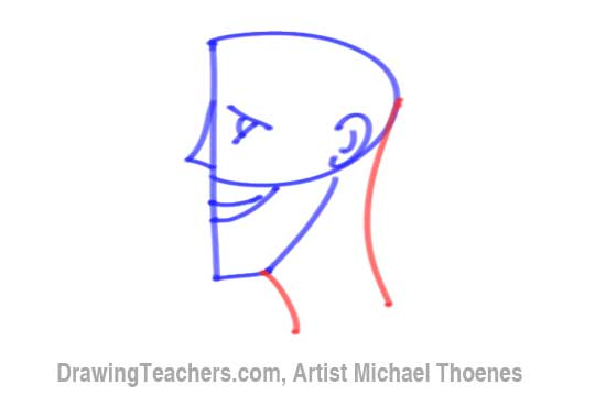 How to Draw a Cartoon Face Profile Step 6