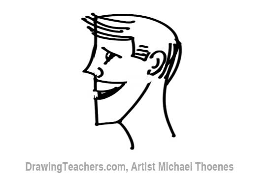 How to Draw a Cartoon Face Profile Step 8