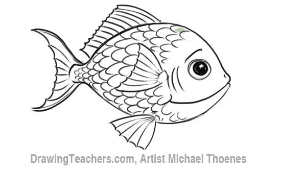 How to Draw a Cartoon Fish 8