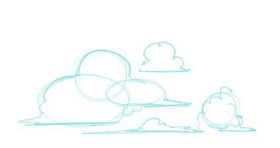 How to Draw Clouds Step 1