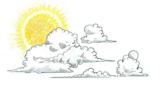 How to Draw Clouds Step 4