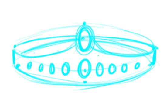 How to Draw a Crown Step 6