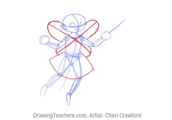 How to Draw a fairy Face Step 5