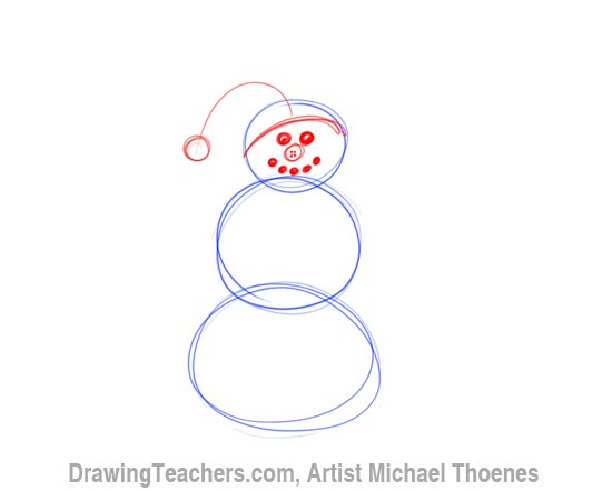 How to Draw a snowman Step 2