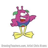 """How to draw Cartoon characters """"hoppy"""""""