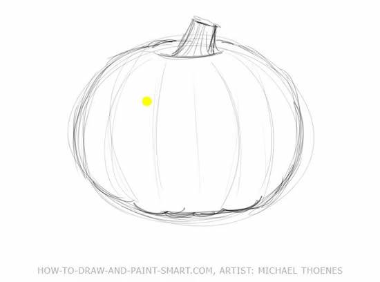 Halloween Pumpkin Drawing Picture.Title