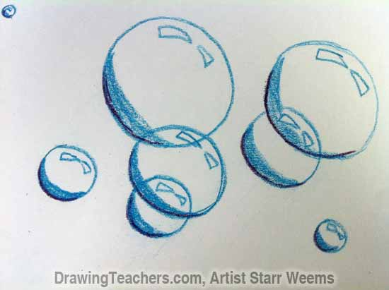 How to Paint Bubbles 4