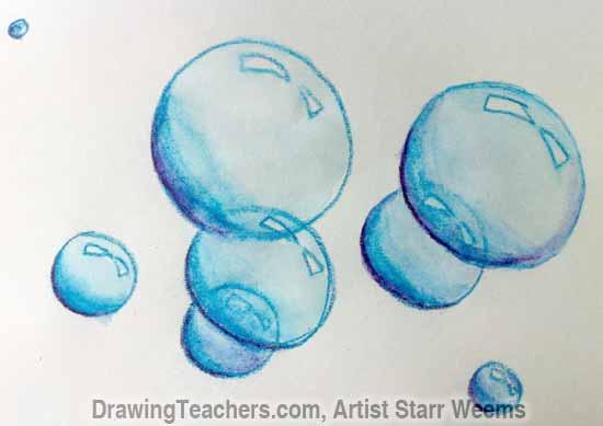 How to Paint Bubbles 6