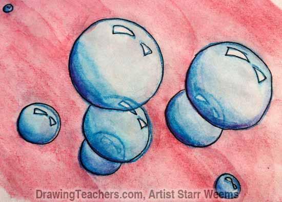 How to Paint Bubbles 7
