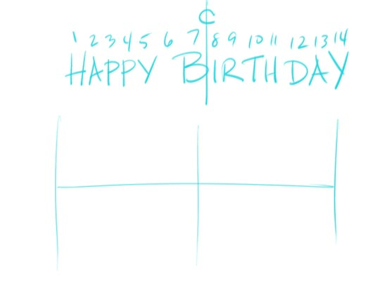 Make Your Own Birtday Banner Step 1