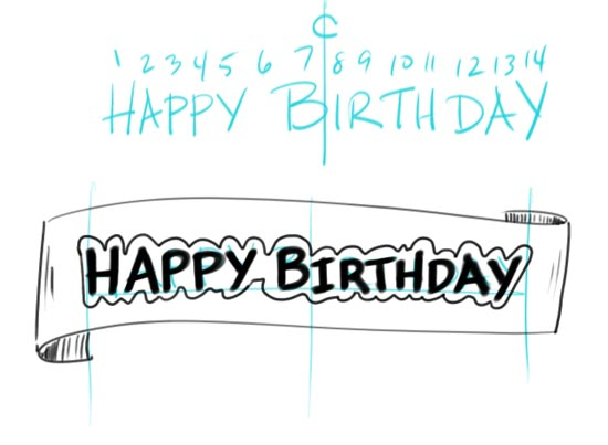 Make Your Own Birtday Banner Step 6