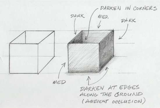 Pencil Shading a Box