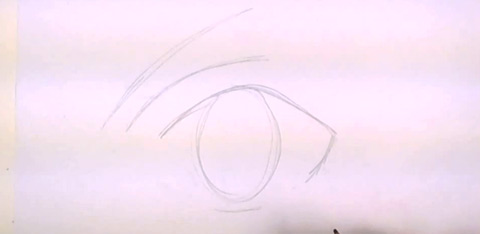 How to Draw Anime Eyes - Eye Lid and Eyebrow