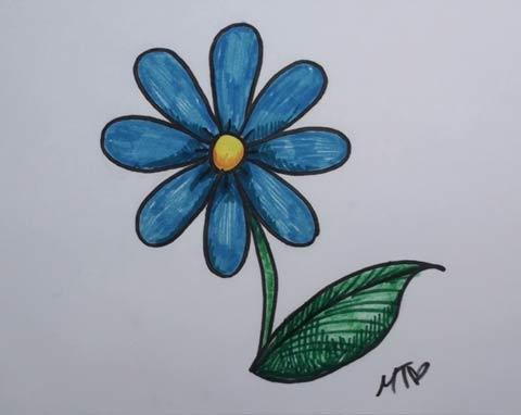 Blue Daisy 06