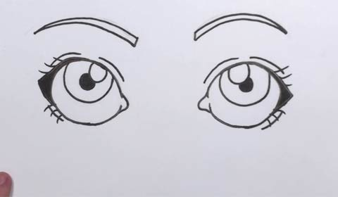 How To Draw Cartoon Eyes Easy Step By Step Lesson For Kids And Adults