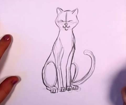 Cat in Pencil 04