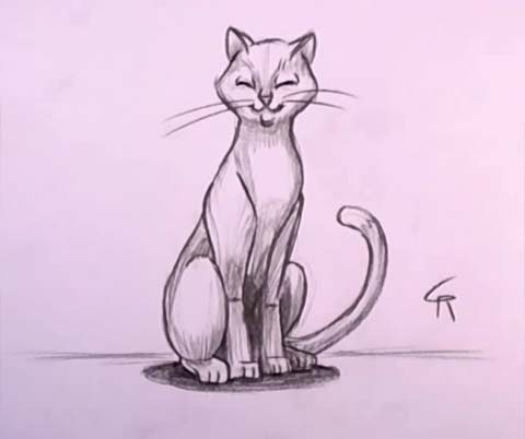 Cat in Pencil 07