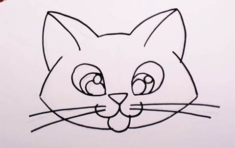 Cute Kitten Drawing lesson - Easy Cat for Kids to Draw ...