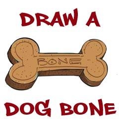 Dog Bone Drawing Lesson