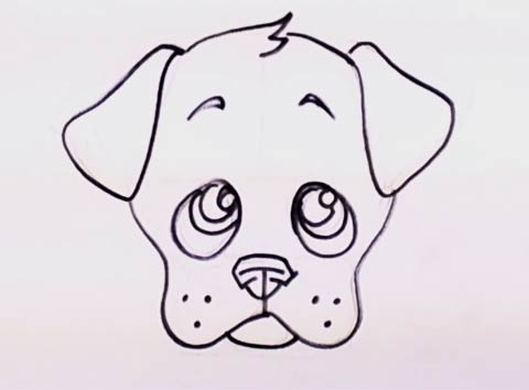 How to Draw a Puppy Face - Adorable Puppy Drawing Lesson Step by Step