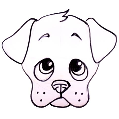 Dog Faces Coloring Pages Dogs Face to Drawings Coloring