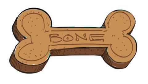 How to draw a dog bone step 9
