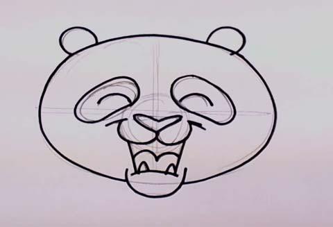 Panda Bear Face 05