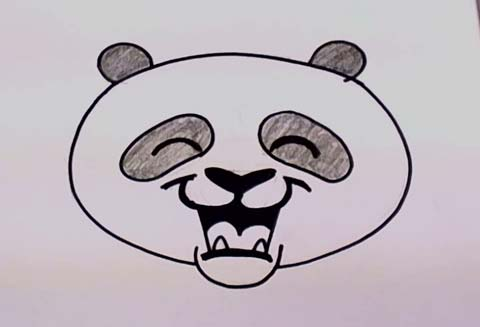 Panda Bear Face 07