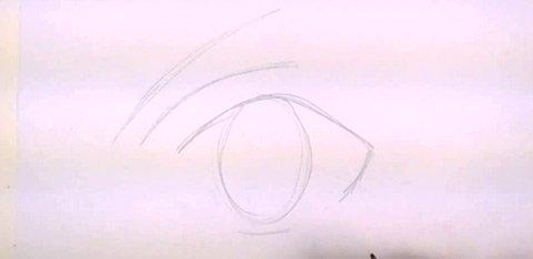 How to Draw Anime Eyes - Eye Lid and Eyebrow