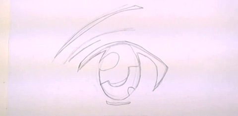 How to Draw Anime Eyes - Filling Out the Eye
