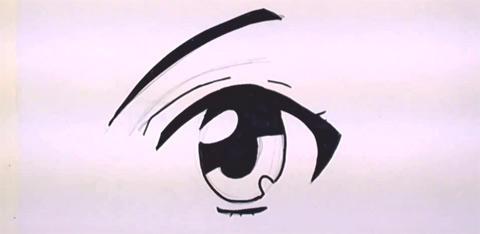 How to Draw Anime Eyes - Inking