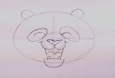 Panda Bear Face 04