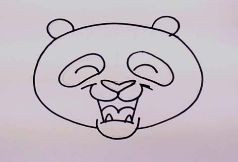 step by step how to draw a panda bear